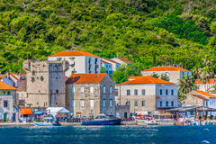Coastal town Vis in Croatia, Europe. Royalty Free Stock Photography