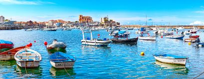 Coastal towns of Spain.Castro Urdiales.Cantabria. Stock Photography