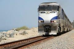Coastal train Stock Images