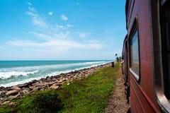 Free Coastal Train In Sri Lanka Royalty Free Stock Photo - 144504465