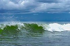 Coastal transparent sea crashing wave Royalty Free Stock Photo