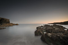 Coastal Twilight Seascape Stock Image