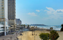 Coastal urban landscape of Tel-Aviv, Israel Stock Photos
