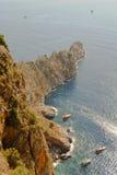 Coastal view. Fishing boats of the coast of Turkey stock image