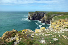 Coastal view. Scenic cliff coastal view in South Wales stock photos