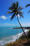 Coastal view. Tropical view of the coaste line with a small bay Royalty Free Stock Photo