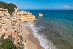 Coastal view at Algarve, Portugal Royalty Free Stock Images