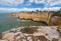 Coastal view at Algarve, Portugal Stock Images
