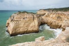 Coastal view at Algarve, Portugal Royalty Free Stock Photo