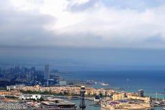Coastal View of Barcelona Stock Photo