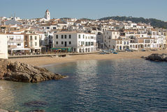 Coastal view of Calella de Palafrugell Royalty Free Stock Image