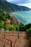 A Coastal View of the Cinque Terra Royalty Free Stock Photography