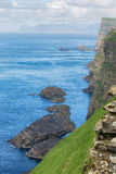 Coastal view from Faroe islands. Royalty Free Stock Images
