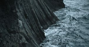 Coastal view, Hellnar, Iceland. Beautiful ocean scenic in Iceland stock video