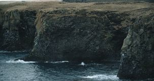 Coastal view, Hellnar, Iceland. Beautiful ocean scenic in Iceland. Slow motion stock video