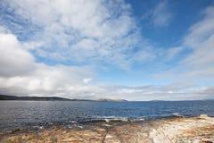 Coastal view Hobart Tasmania stock image