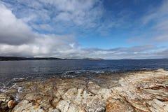 Coastal view Hobart Tasmania royalty free stock photos