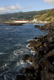 Coastal view of lajes do pico village Stock Image