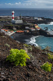 Lighthouse and saltpans, Fuencaliente, La Palma Royalty Free Stock Photo