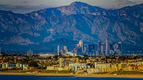 Coastal view of Los Angeles stock images