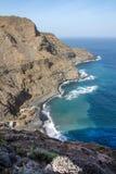 Coastal View of the north side of La Gomera royalty free stock image