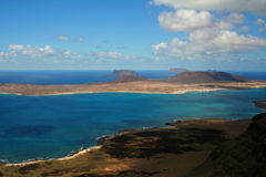 Coastal view. A view from the North side of Lanzarote stock photo