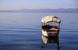 Coastal view of Ohrid, Macedonia. Coastal view of Ohrid, a small city by the Lake Ohrid in southwest of FYR Macedonia Royalty Free Stock Images
