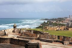 Coastal view from San Cristobal Royalty Free Stock Photography