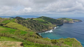 Coastal view at Santa Iria in Sao Miguel Island, Azores, Portugal Stock Photography