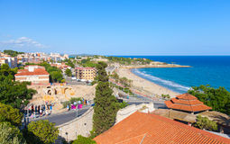 Coastal view of Tarragona city, Catalonia, Spain Stock Photo