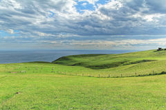 Coastal view from top of the mouintain in Dunedin Stock Photos