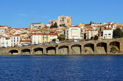 Coastal view of the town of Banyuls sur Mer Stock Photos