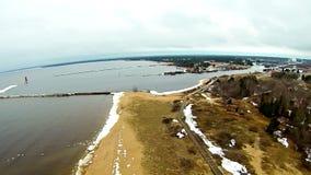 Coastal views around manistique michigan Stock Photo