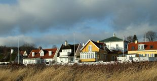 Coastal Village Royalty Free Stock Photos