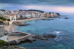 Coastal Village of Barcelona, Spain Stock Image