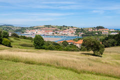 Coastal village in Cantabria Stock Images