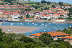 Coastal village in Cantabria Stock Photography