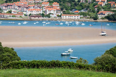Coastal village in Cantabria Stock Photo