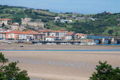 Coastal village in Cantabria Stock Image