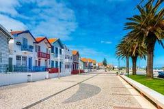 Costa Nova do Prado Portugal Stock Photos