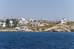 Coastal village on the cyclades, Greece Stock Images
