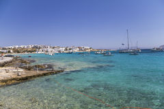 Coastal village on the cyclades, Greece Royalty Free Stock Image