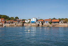 Coastal village in France Royalty Free Stock Photography