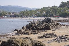 Coastal village in Mexico Royalty Free Stock Photography