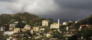 Coastal village near Camogli, Liguria Stock Photo