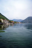 The coastal village of Prcanj. The old village of Prcanj on the Adriatic coast Stock Photography