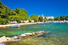 Coastal village of Sveti Filip I Jakov beach Royalty Free Stock Image