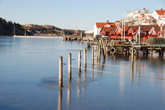 Coastal village by the west coast of Sweden Stock Photos