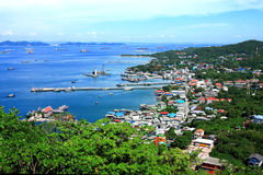 Coastal villages. In eastern Thailand Royalty Free Stock Photos