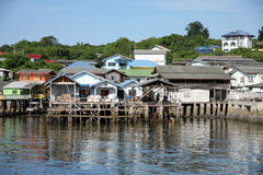 Coastal villages on the island. Royalty Free Stock Photo